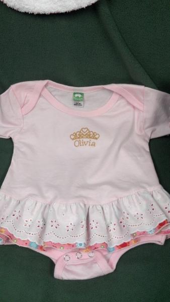 Oliva front onesie