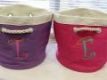 Monogrammed L & E Bags
