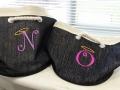Monogrammed N & O Bags