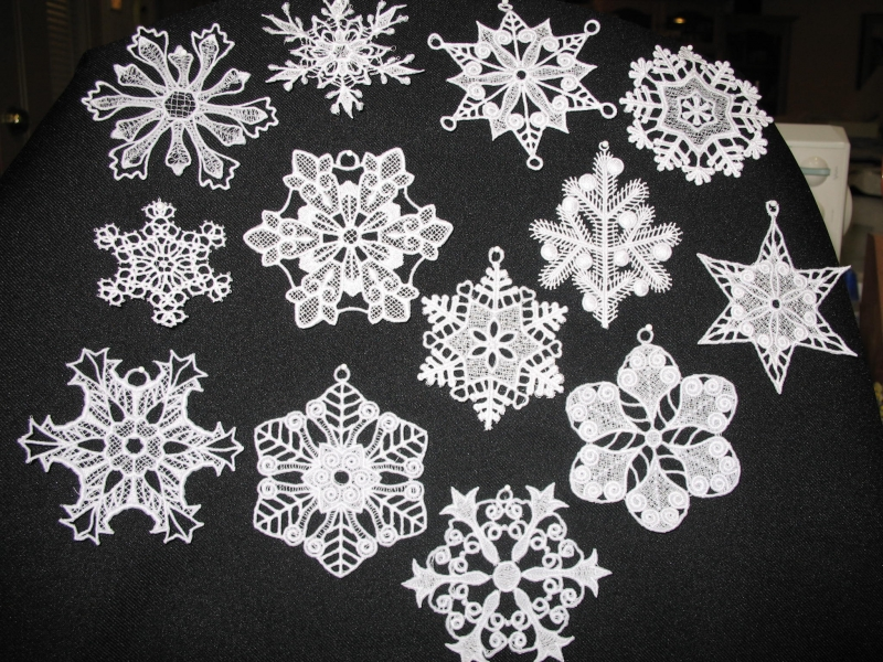 Free Standing Lace Snowflakes