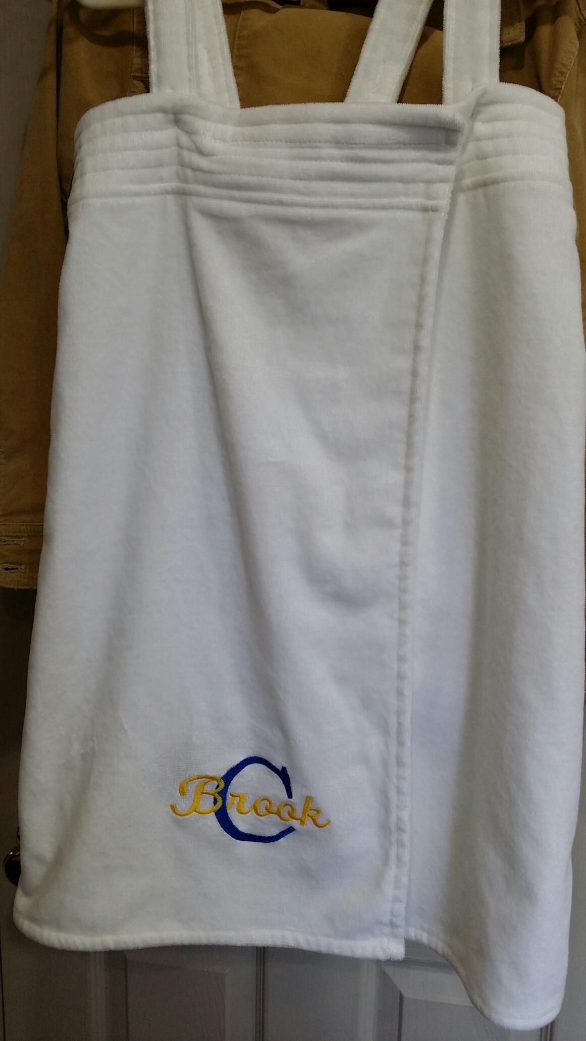 Monogrammed Towel Wrap