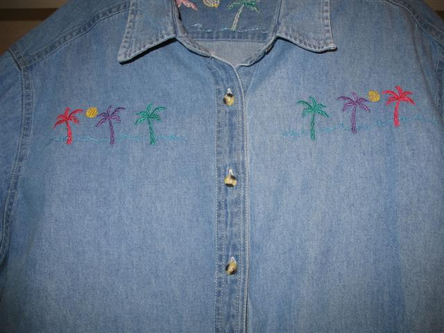 Palm Tree Denim Shirt