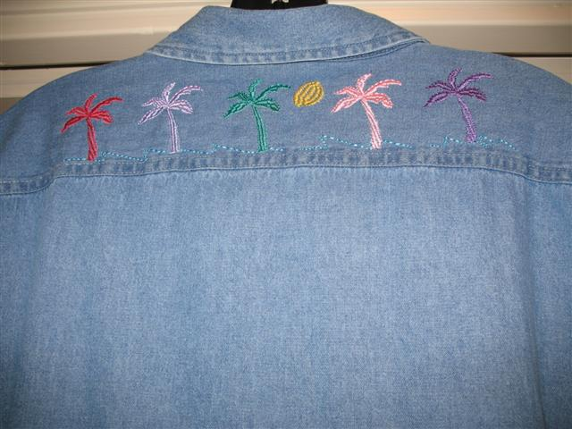 Palm Tree Shirt Back
