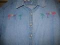 Palm Tree Denim Shirt