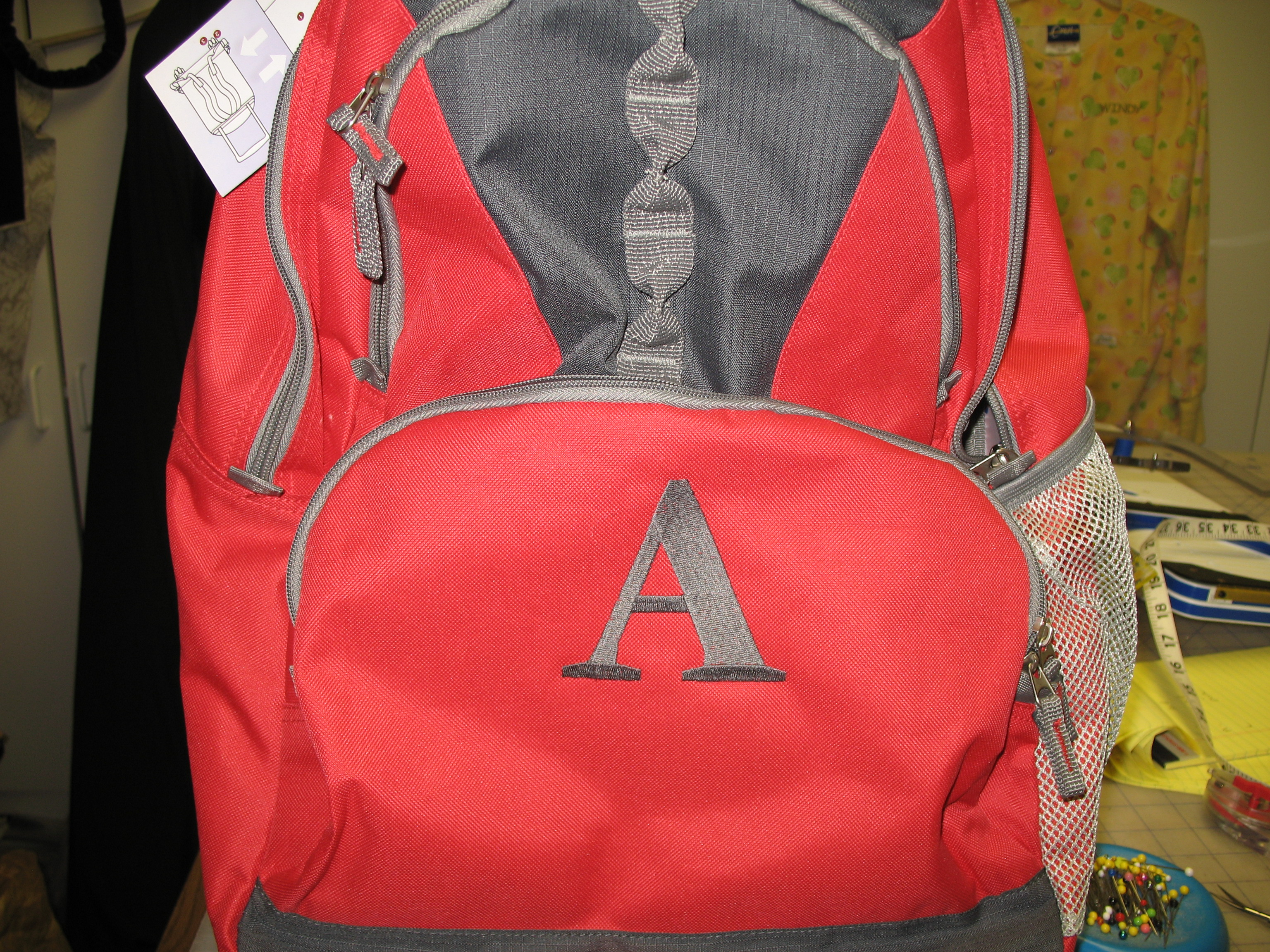 Initialed Backpack