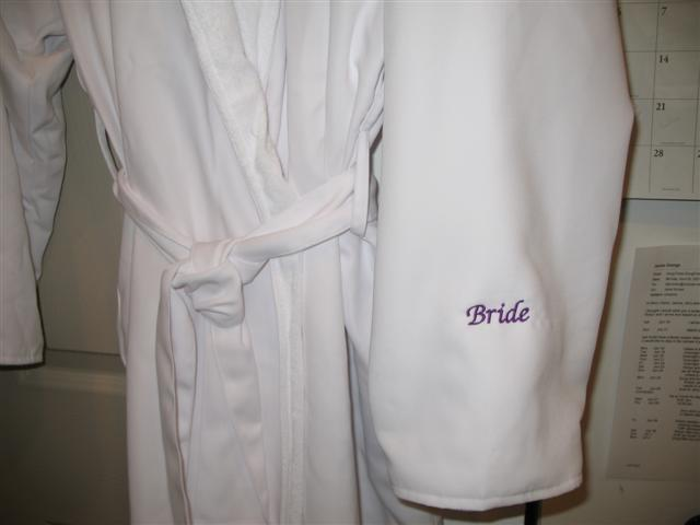 Wedding, Bride Bathrobe